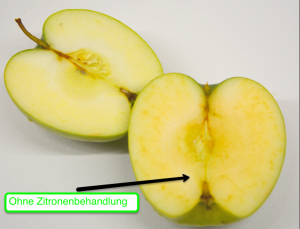 Apfel oxidiert