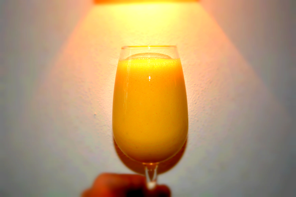 Smoothie Orange Banane  Sau lecker ~ Entsafter Banane