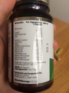 Clean Body Detox Inhaltsstoffe